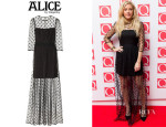 Ellie Goulding's ALICE by Temperley 'Celia' Polka-Dot Tulle Maxi Dress