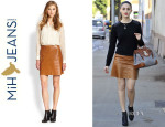 Emmy Rossum's MiH Leather Skirt