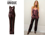 Erin Wasson's Topshop Sequin Jumpsuit by Unique