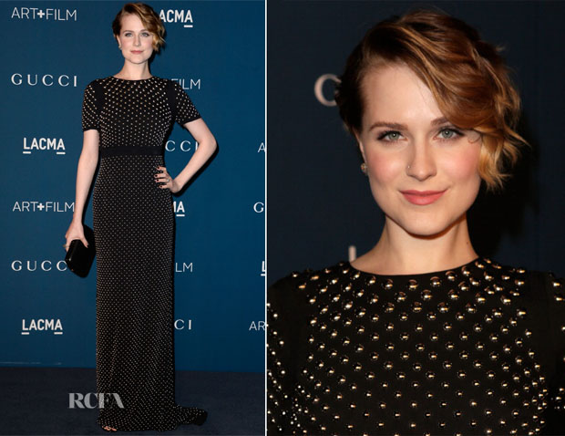 Evan Rachel Wood In Gucci - LACMA Art + Film Gala 2013