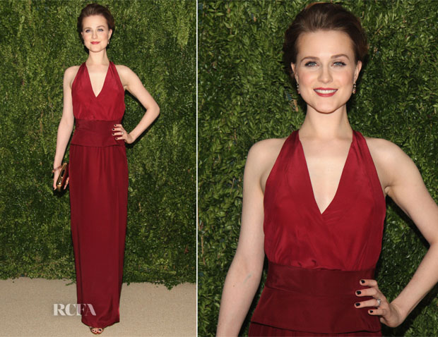 Evan Rachel Wood In Tome - CFDAVogue 2013 Fashion Fund Finalists