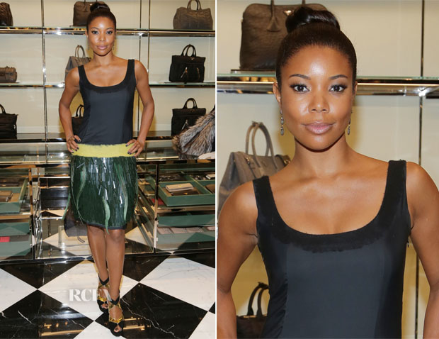 Gabrielle Union In Prada - Prada Bal Harbour Reopening