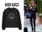 Gisele Bundchen's Kenzo Eye-Embellished Fleece Sweatshirt