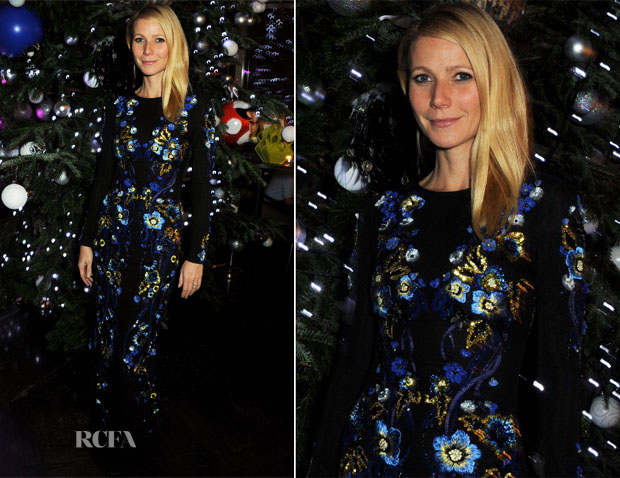 Gwyneth Paltrow In Matthew Williamson - Matthew Williamson & Gwyneth Paltrow Host Kids Company Dinner At Aqua Shard