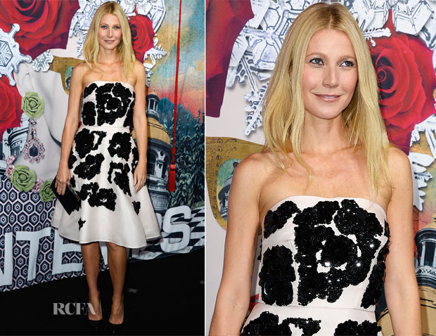 Gwyneth Paltrow In Prada - Printemps Christmas Decorations Inauguration In Paris