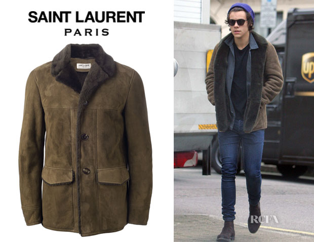 Harry Styles' Saint Laurent Shearling Jacket