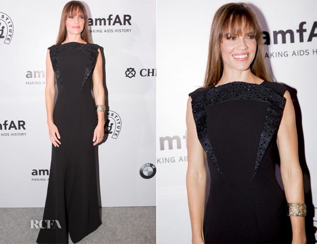 Hilary Swank In Giorgio Armani - amfAR India
