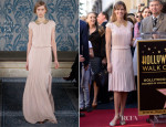 Hilary Swank In Tory Burch - Mariska Hargitay's Hollywood Walk of Fame Unveiling
