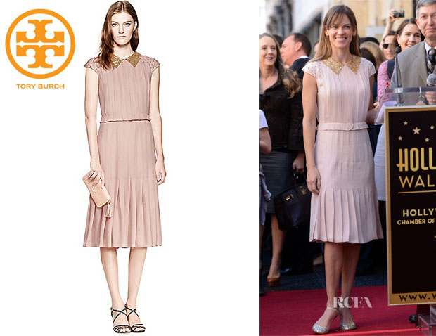 Hilary Swank's Tory Burch 'Liv' Dress