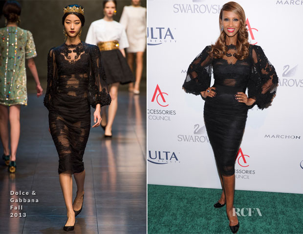 Iman In Dolce & Gabbana - 17th Annual Accessories Council ACE Awards