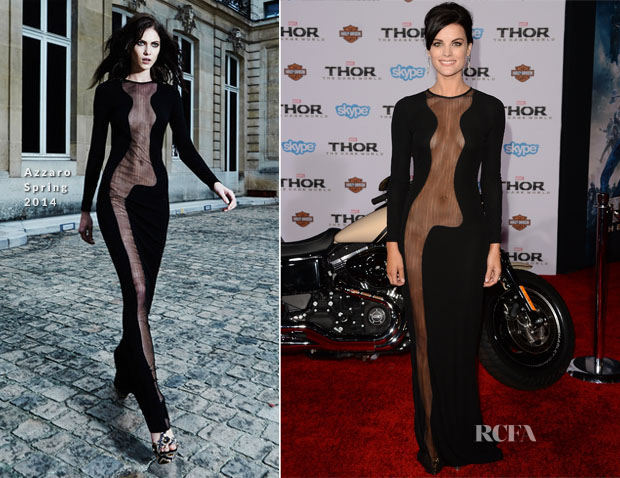 Jaimie Alexander In Azzaro - 'Thor The Dark World' LA Premiere