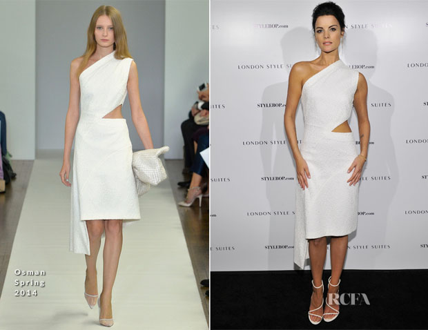 Jaimie Alexander In Osman - British Fashion Council Style Suites