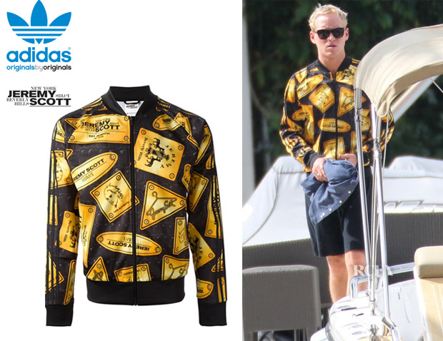 Jamie Laing's Adidas Originals By Jeremy Scott 'Plaque' Jacket