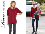 January Jones' Lovers + Friends 'So Good' Sweater