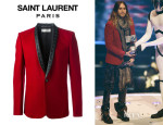 Jared Leto's Saint Laurent Buttoned Blazer