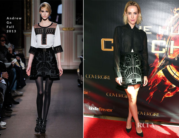 Jena Malone In Andrew Gn - 'The Hunger Games Catching Fire' Victory Mall Tour