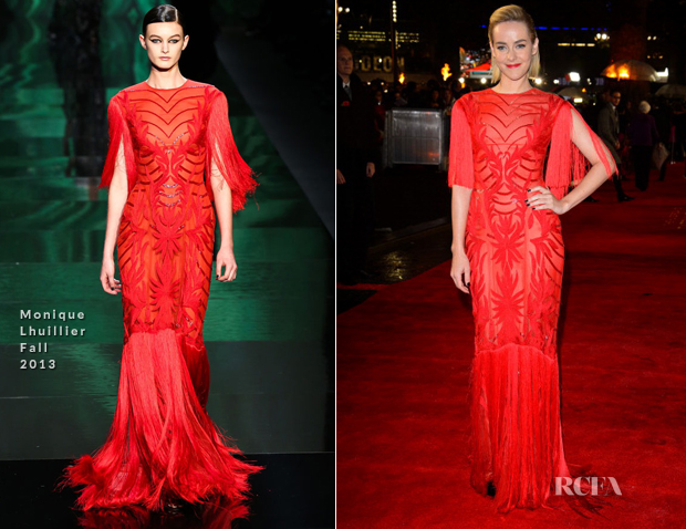 Jena Malone In Monique Lhuillier - 2013 London Hunger Games Premiere