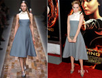 Jena Malone In Valentino - 'The Hunger Games: Catching Fire' New York Premiere