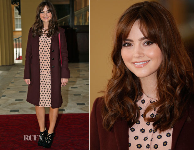 Jenna Coleman In Mulberry - 'Doctor Who' 50th Anniversary Celebration