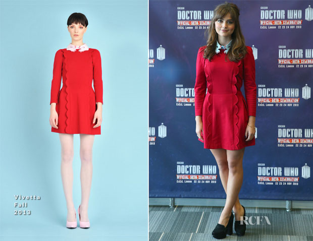 Jenna Coleman In Vivetta - 'Doctor Who 50th Celebration' Event