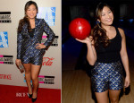 Jenna Ushkowitz In Ted Baker London - American Music Awards Bowling For Charity Event
