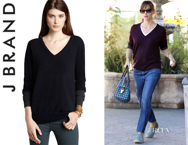 Jennifer Garner's J Brand 'Edith' Cashmere Sweater