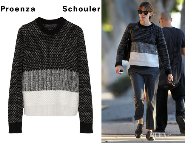 Jennifer Garner's  Proenza Schouler Wool, Cashmere And Silk-Blend Sweater