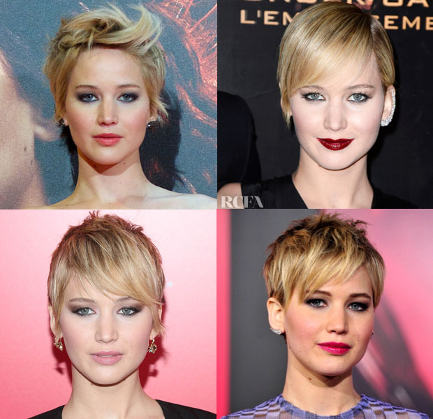 Jennifer Lawrence's 'The Hunger Games Catching Fire' Promo Tour Beauty Looks