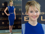 Jennifer Lawrence In Alexander McQueen - 'The Hunger Games: Catching Fire' Madrid Photocall