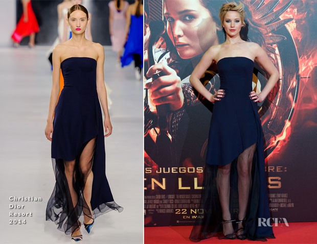 Jennifer Lawrence In Christian Dior - 'The Hunger Games Catching Fire' Madrid Premiere