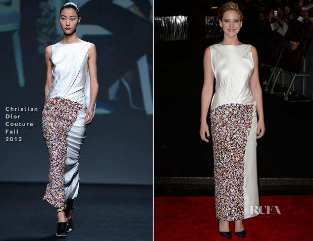 Jennifer Lawrence In Christian Dior Couture - 2013 London Hunger Games Premiere