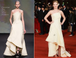 Jennifer Lawrence In Christian Dior Couture - 'The Hunger Games: Catching Fire' Rome Film Festival Premiere
