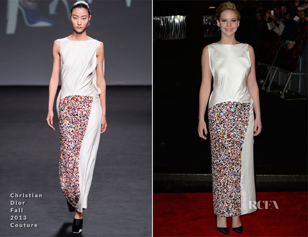 Jennifer Lawrence In Christian Dior Couture - 'The Hunger Games Catching Fire' World Premiere