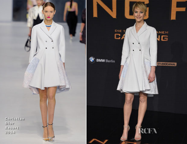 Jennifer Lawrence In Christian Dior - 'The Hunger Games Catching Fire' Berlin Premiere