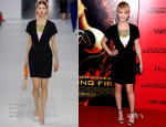 Jennifer Lawrence In Christian Dior - 'The Hunger Games: Catching Fire' New York Premiere