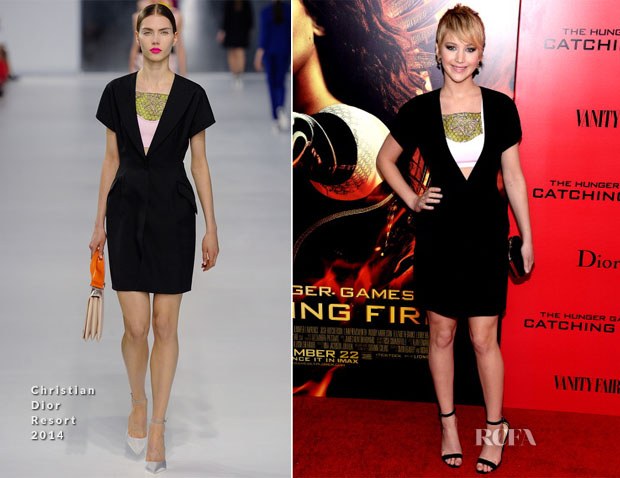 Jennifer Lawrence In Christian Dior - 'The Hunger Games Catching Fire' New York Premiere