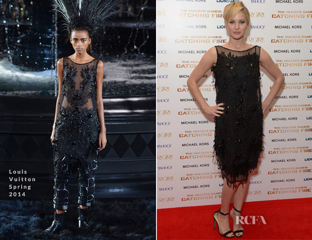 Jennifer Lawrence In Louis Vuitton - 'The Hunger Games Catching Fire' After-Party