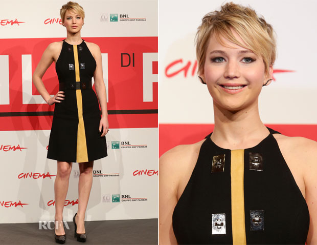 Jennifer Lawrence In Proenza Schouler - 'The Hunger Games Catching Fire' Rome Film Festival Photocall
