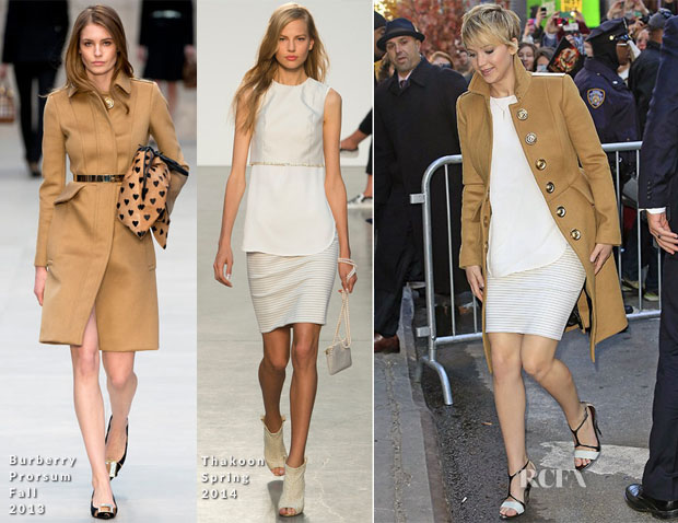 Jennifer Lawrence In Thakoon & Burberry Prorsum - Good Morning America