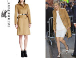 Jennifer Lawrence's Burberry Prorsum Tailored Peplum Coat