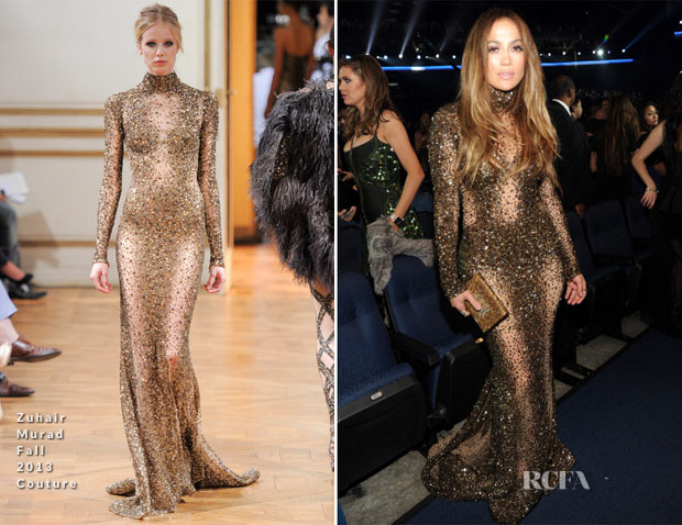 Jennifer Lopez In Zuhair Murad Couture  - 2013 American Music Awards