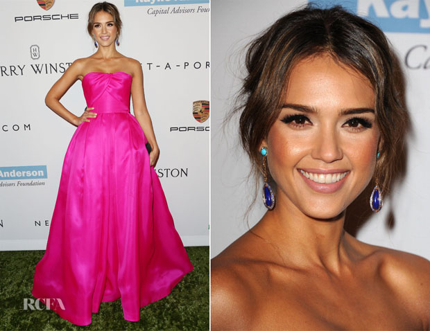 Jessica Alba In Reem Acra - 2nd Annual Baby2Baby Gala