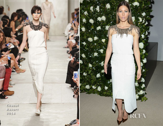 Jessica Biel In Chanel - MoMA Benefit A Tribute to Tilda Swinton