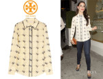 Jessica Lowndes' Tory Burch 'Harriet' Sparrow Print Shirt