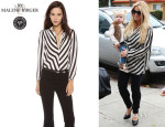 Jessica Simpson's By Malene Birger 'Lancie' Striped Blouse