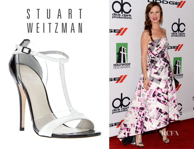 Juliette Lewis' Stuart Weitzman Two Tone Sandals