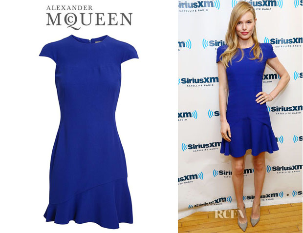 Kate Bosworth's Alexander McQueen Flared Crepe Dress