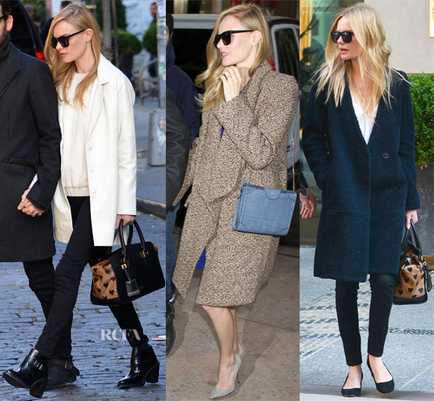Kate Bosworth's Three Winter Coats In Three Days