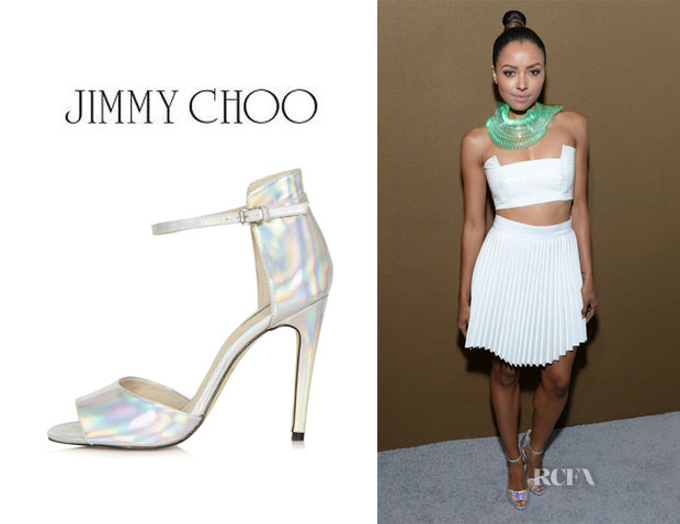 Katerina Graham's Topshop 'Rebel' Mirror Sandals