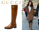 Katie Holmes' Gucci 'Jamie' Flat Riding Boots